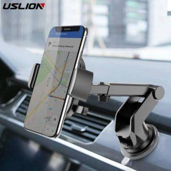 USLION Car Phone Holder in Car For Samsung S10 S9 S8 360 Rotation Car Holder For iPhone X XS MAX Stand Support Windshield Mount Holders & Stands Smartphone Accessories iPhone cases, wireless speakers, activity trackers | CoolTech Life