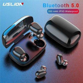 USLION Wireless V5.0 Bluetooth Earphone TWS 9D Stereo Headphone Sports Gaming Headset With Dual Mic and LED Display Charge Case Bluetooth Speakers Wireless Devices iPhone cases, wireless speakers, activity trackers | CoolTech Life