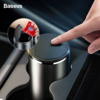 Baseus Car Trash Bin Alloy Garbage Can For Car Dustbin Waste Rubbish Basket Bin Organizer Storage Holder Bag Auto Accessories Car Accessories iPhone cases, wireless speakers, activity trackers | CoolTech Life