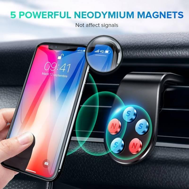 GETIHU Metal Magnetic Car Phone Holder Mini Air Vent Clip Mount Magnet Mobile Stand For iPhone XS Max Xiaomi Smartphones in Car