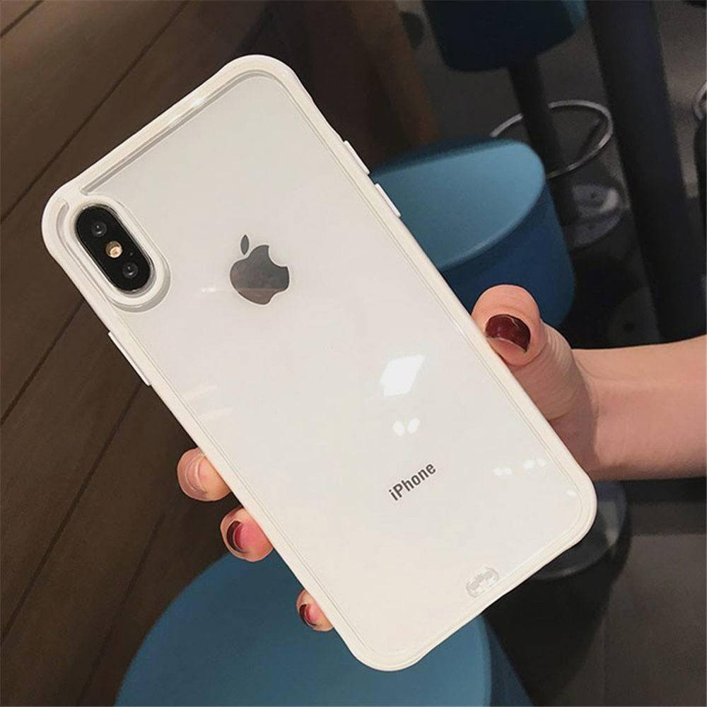 Lovebay Shockproof Bumper Transparent Silicone Phone Case For iPhone 11 Pro X XR XS Max 8 7 6 6S Plus Clear Soft TPU Back Cover