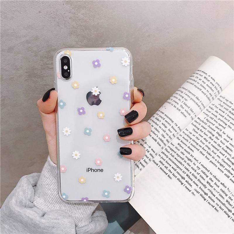 Lovebay Soft Clear Phone Cases For iphone 11 Pro X XS Max XR 6 6S 7 8 Plus Case Floral Love Heart Transparent Silicon Back Cover