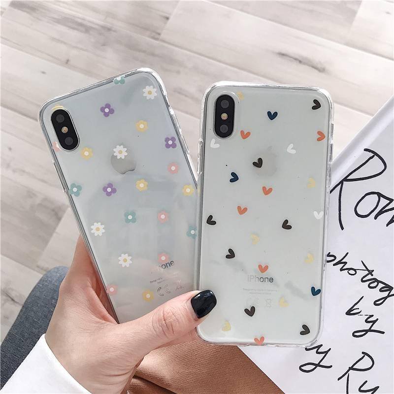 Soft Clear Phone Cases For iphone 11 Pro X XS Max XR 6 6S 7 8 Plus – Floral Heart Transparent Silicon back cover Phone Cases Smartphone Accessories CoolTech Gadgets free shipping |Activity trackers, Wireless headphones