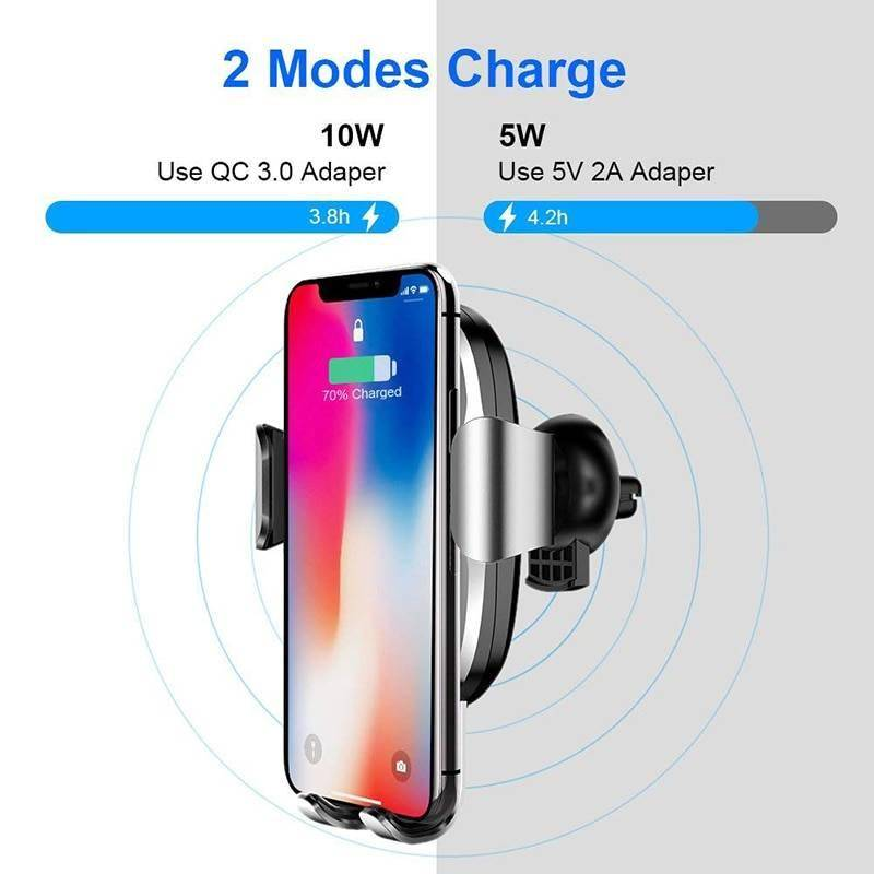 Wireless Car Charger For iPhone XS XR Samsung S10 10W Fast Charging Best Sellers Chargers & Cables Holders & Stands Smartphone Accessories Wireless Devices CoolTech Gadgets free shipping |Activity trackers, Wireless headphones