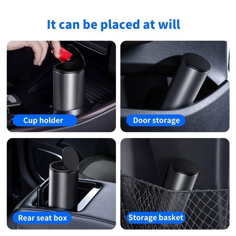 Baseus Alloy Car Trash Can Auto Organizer Storage Bag Car Garbage Bin Ashtray Dust Case Holder Auto Accessories Car Accessories New Arrivals iPhone cases, wireless speakers, activity trackers & cool gadgets