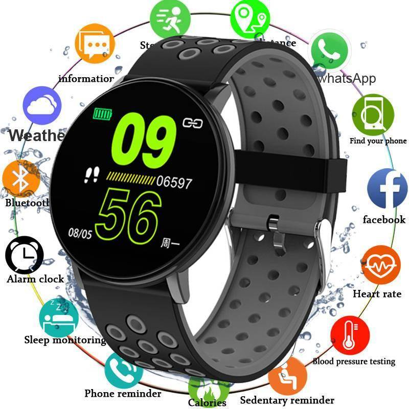 Casual Waterproof Silicone Smartwatch Smartwatches & Accessories iPhone cases, AirPods replacement, Activity trackers, Smart Gadgets