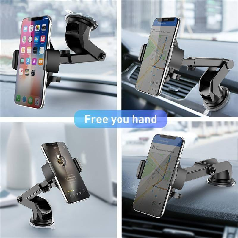 USLION Car Phone Holder in Car For Samsung S10 S9 S8 360 Rotation Car Holder For iPhone X XS MAX Stand Support Windshield Mount Holders & Stands New Arrivals Smartphone Accessories iPhone cases, wireless speakers, activity trackers & cool gadgets
