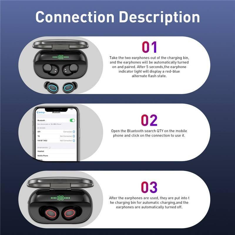 X1 TWS 5.0 Bluetooth Headphone 3D Stereo Wireless Earphone Dual Mic LED Digital Power Bank Support iOS/Android Phones 2000 mAh Other Bluetooth Speakers New Arrivals Wireless Devices iPhone cases, wireless speakers, activity trackers | CoolTech Life