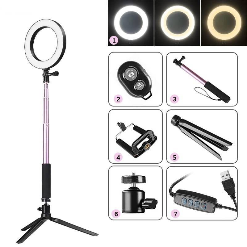 Photography Dimmable LED Selfie Ring with Phone Holder iPhone cases, wireless speakers, activity trackers & cool gadgets