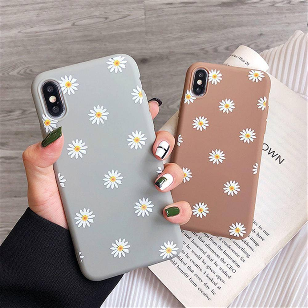 Floral Soft Silicone Phone Case for iPhone