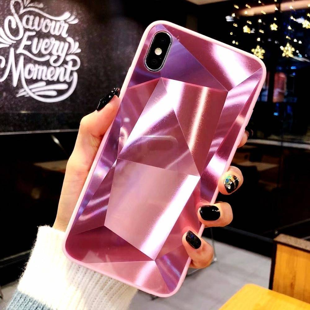 Diamond Texture Mirror Phone Case for iPhone iPhone cases, wireless speakers, activity trackers & cool gadgets