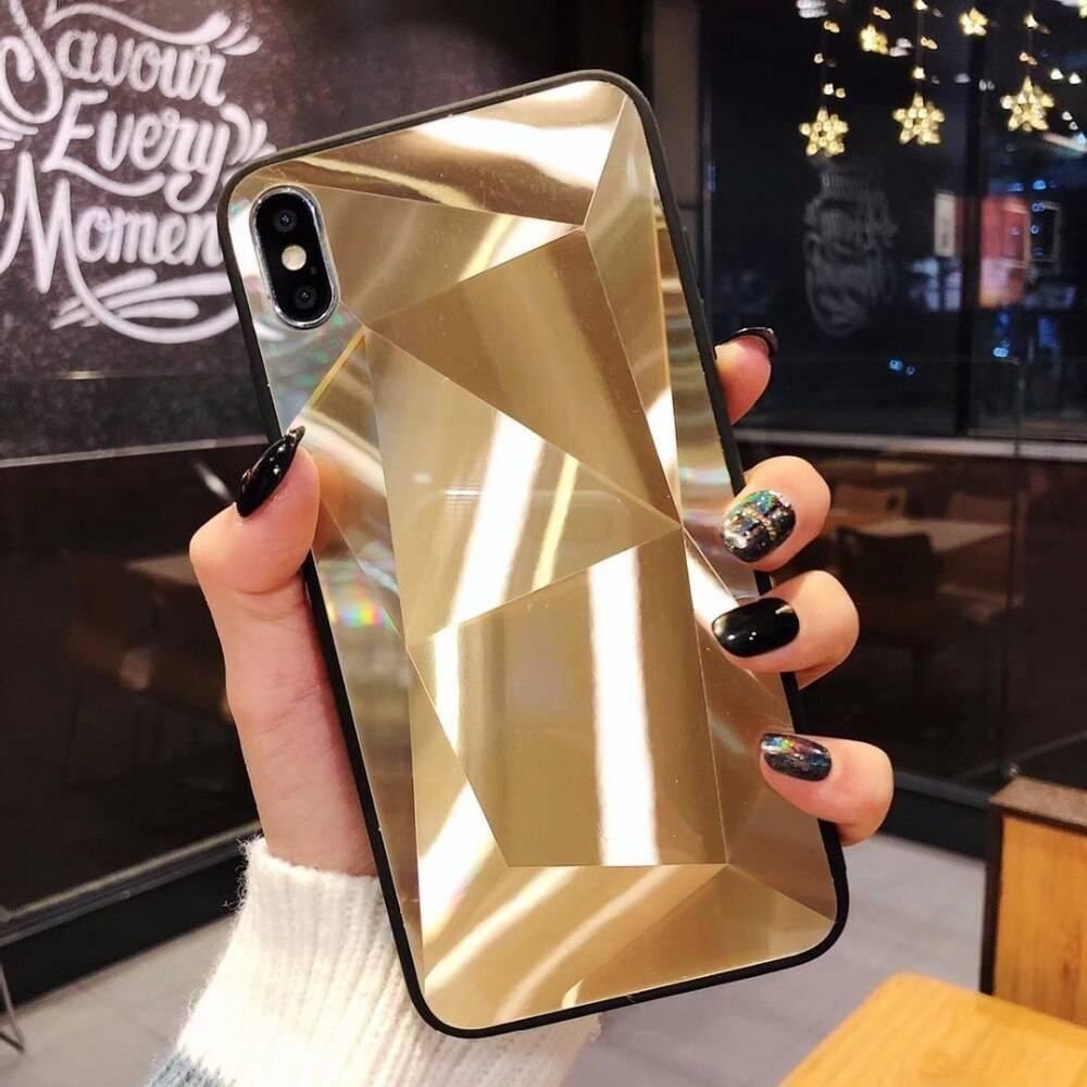Diamond Texture Mirror Phone Case for iPhone