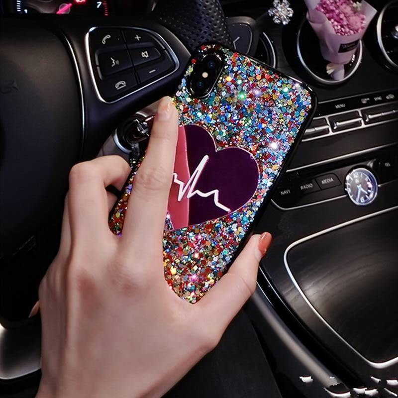 Glitter Heart Case for iPhone iPhone cases, wireless speakers, activity trackers & cool gadgets