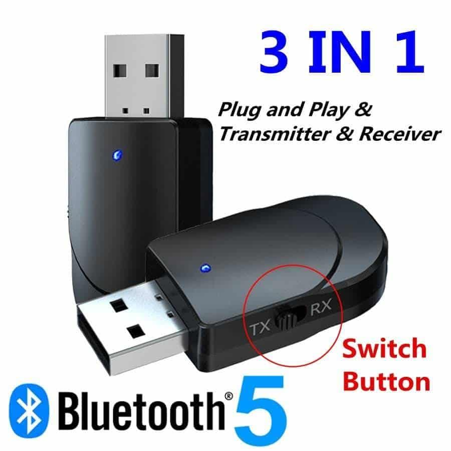 Bluetooth 5.0 Audio Receiver Transmitter 3 IN 1 Mini 3.5mm Jack AUX USB Stereo Music Wireless Adapter for TV Car PC Headphones Bluetooth Speakers Wireless Devices iPhone cases, wireless speakers, activity trackers & cool gadgets